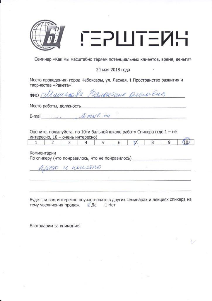 Отзыв Мишанова