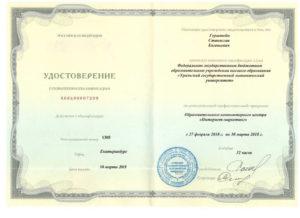 Герштейн С.Е. диплом интернет-маркетолог